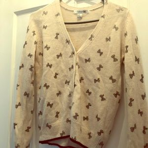 Forever 21 Cardigan- Printed Bow Ties